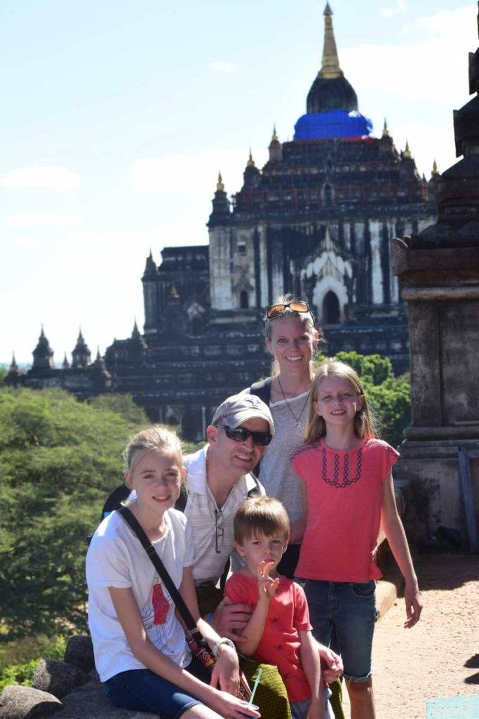 estate planning attorney Jake Carlson with his family in Myanmar