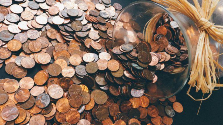 Jar Spill Pennies Trust funding