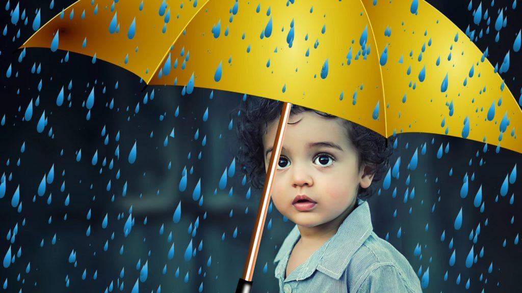 Protect Life Insurance Child in the rain