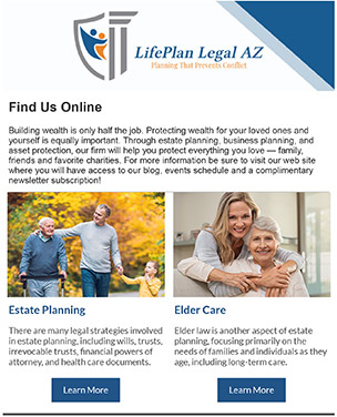 Estate Planning eNewsletter - Subscribe Today!